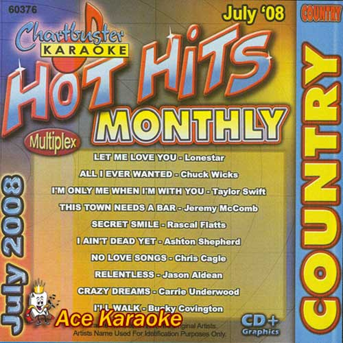 Chartbuster Karaoke - Hot Hits Country Album Cover