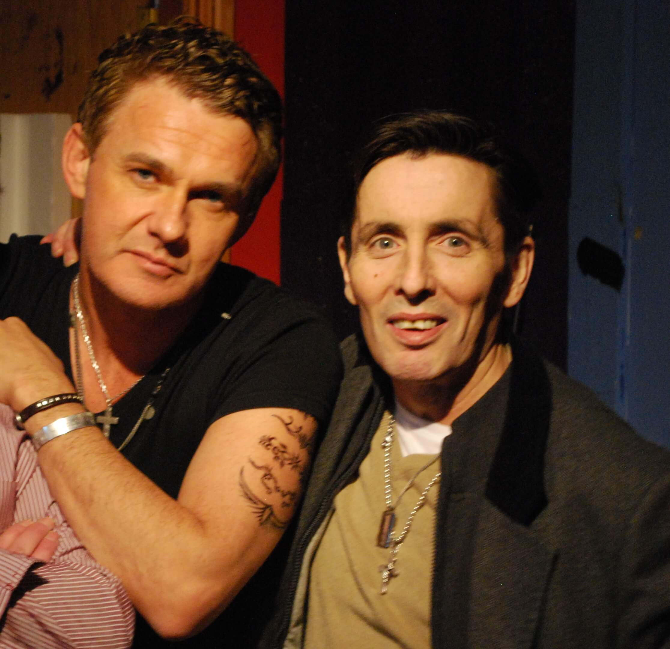 Don Mescall with Christy Dignam in Studio