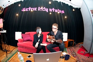 Don Mescall and Marina Kaye at Electric Lady Studios in New York