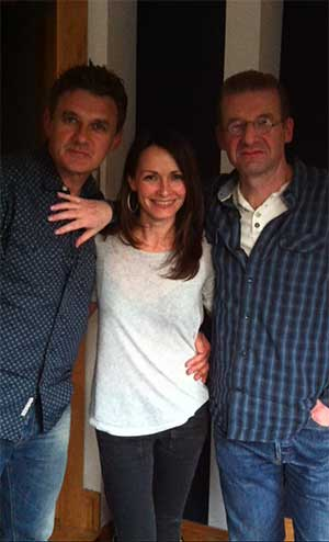 Don Mescall with Sharon Corr and Ronan Hardiman