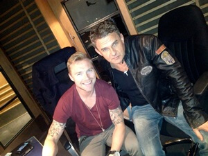 Don Mescall with Ronan Keating in the Studio