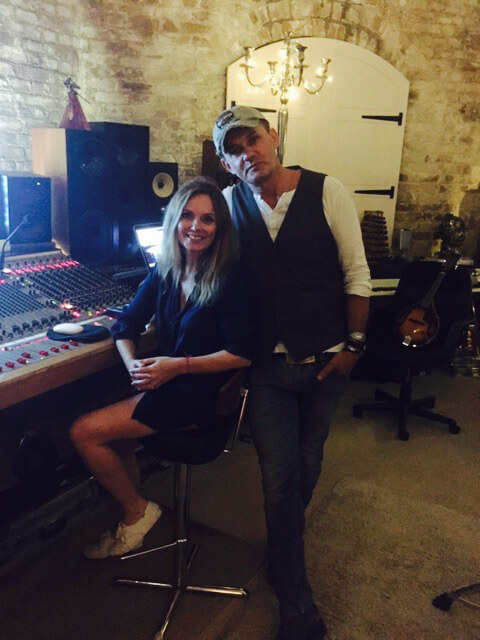 Don Mescall with Geri Halliwell at Pepper Pot Studios.