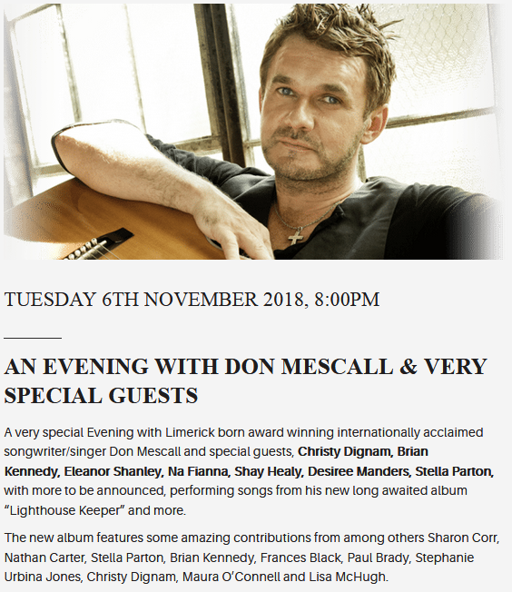 songwriting workshop with Don Mescall